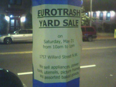 EuroTrash Yard Sale
